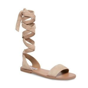Steve Madden Reputation Taupe Suede Sandals